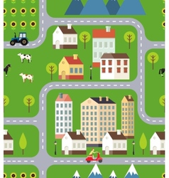 seamless town background design vector image