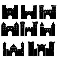 set medieval castles vector image