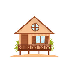 small beach house tropical bungalow vector image