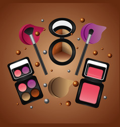 spray cream tube cosmetic makeup products vector image