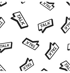 talk icon seamless pattern background business vector image