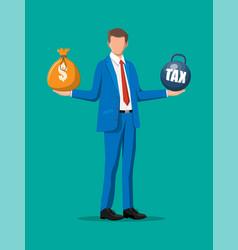 tax burden concept vector image