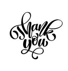 thank you handwritten inscription hand drawn vector image