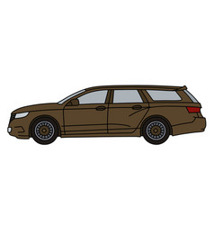 The brown station wagon vector