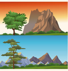 two different landscapes vector image