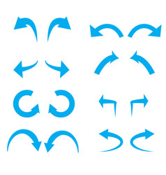 Undo and redo icon on white background flat vector