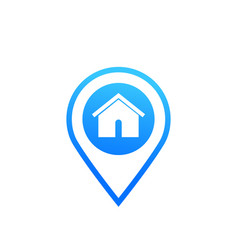 warehouse and location mark icon vector image