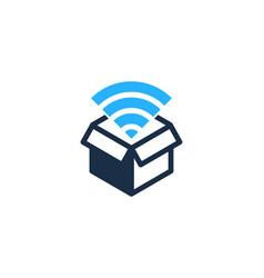 Wifi box logo icon design vector