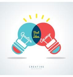 Best Idea Creative light bulb Concept vector image