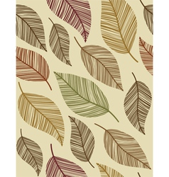 decorative vintage leaves seamless pattern vector image vector image