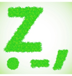 grass letter Z vector image vector image