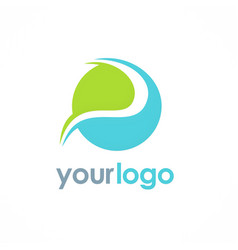round abstract ecology logo vector image vector image
