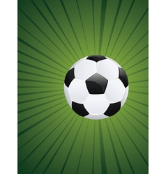 Soccer Ball on Rays Background2 vector image vector image