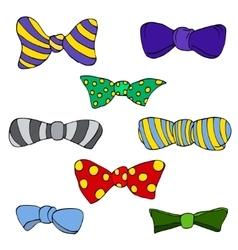 colorful tie vector image