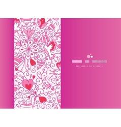 Love garden horizontal pattern background vector image