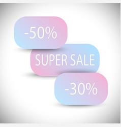 sale banner design creative discount poster vector image