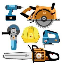 set of tools final vector image vector image