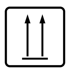 up sign icon vector image vector image