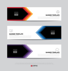 banner design for business presentation vector image vector image