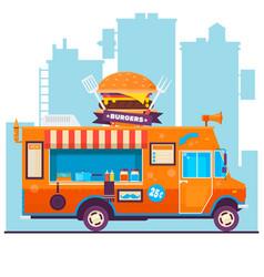 food truck festival menu food brochure street vector image vector image