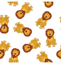 Seamless Funny Cartoon Lion vector image