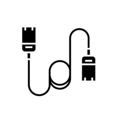 cable computer - ethernet icon vector image