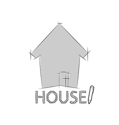 Home icon for concept vector image vector image