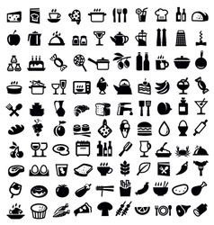 kitchen and food icon vector image vector image