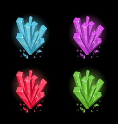 magic crystals vector image
