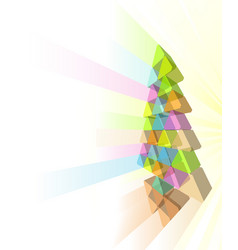 modern christmas tree concept vector image vector image