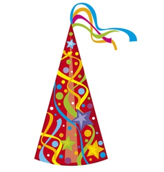 party hat - birthday hat vector image vector image