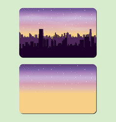 Sample design of a credit card night city the vector
