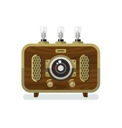 Vintage Radios in Flat Style vector image