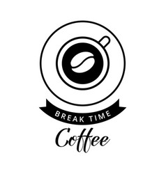 a coffee time vector image