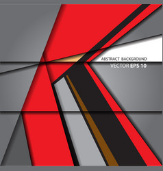 Abstract arrow red on gray background vector