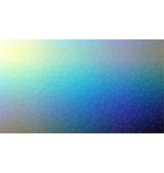 Abstract blue 2D mosaic triangle background vector