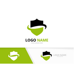 abstract security logotype design template unique vector image