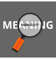 Ambiguity ambiguous search find above real vector