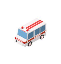 ambulance car isometric auto vector image