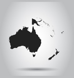 australia and oceania map icon flat australia vector image