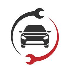 auto service logo car repair icon vector image