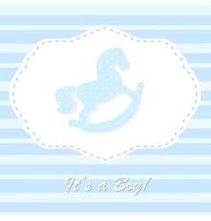 Baby born congratulation card vector