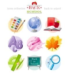 Back to school sale icon vector