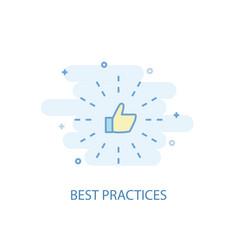 Best practices line concept simple line icon vector