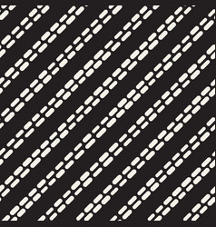 Black and white irregular rounded dashed lines vector