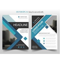 Blue abstract square annual report brochure flyer vector