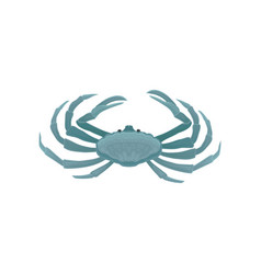 Blue crab with five pairs of legs marine animal vector
