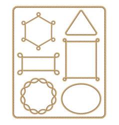brown rope frame set vector image