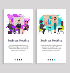 business meeting presentation on whiteboard vector image