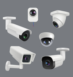 Cctv systems security cameras house electronic vector